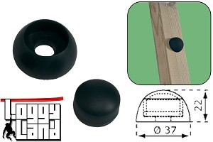 20 pieces of bolt cover 8 / 10mm black cover caps