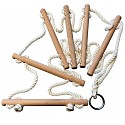 Kletterleiter 6 Sprossen extra starke Seile 12mm