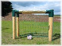 Soccer goal - wooden soccer goal extra solid