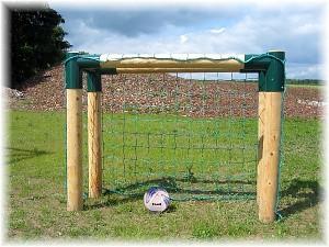 Soccer goal - wooden soccer goal extra solid