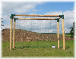 Soccer goal wood extra solid football goal