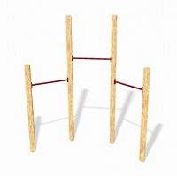 LoggyLand Playground Set GYM III - horizontal bar