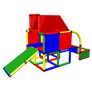 Moveandstic Fabian - Play House with Roof and Toddler Slide