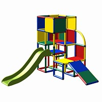 Moveandstic Julian - Play Tower with Slide and Toddler Slide