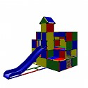 Moveandstic Sarah - Climbing Castle with Ball Pool inside and Slide