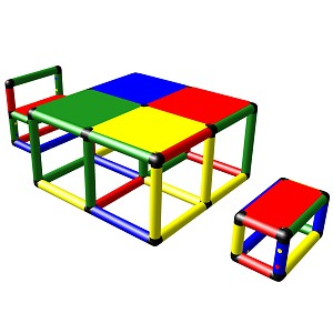 Moveandstic Elias - seating group with table and two chairs
