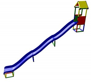 Moveandstic Kisten - Hillside Slide, 3 times the length, 4.90m