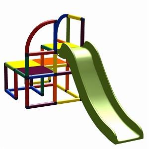 Moveandstic sliding tower Rutschenturm Teo multicolor
