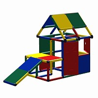 Moveandstic Lennard play house with toddler slide, window and door