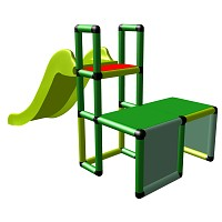 Moveandstic play tower Uni Sport small slide with tunnel