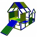 Moveandstic play house toddler construction kit climbing tower with baby slide green