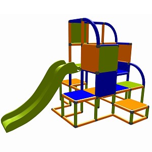 Moveandstic - Helge climbing tower orange-blue-apple green