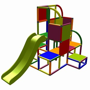 Moveandstic - climbing tower Helge multicolor 7 colors