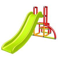 my first Slide Alma red orange green baby slide with starter set Easy garden slide MAS children slide