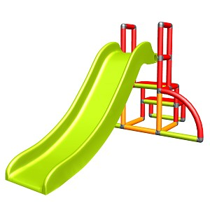 my first Slide Alma My first slide red orange green baby slide with entry set Easy garden slide MAS children's slide