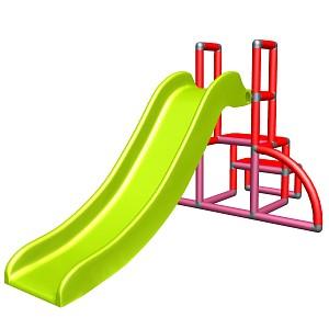my first slide Alma red - magenta - apple-green baby slide with starter set Easy garden slide MAS children slide