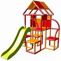 Moveandstic - Lina climbing frame with slide orange-red