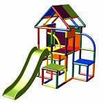 Moveandstic - Lina play tower with slide multi-colored
