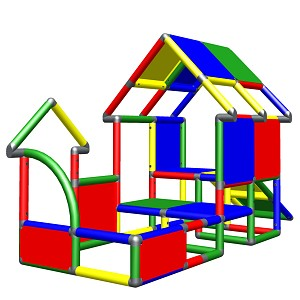 Moveandstic toddler playhouse with colorful slide