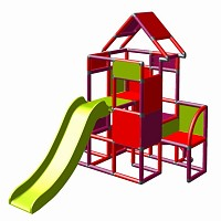 Moveandstic Lisa-large tower with slide magenta-red