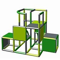 Moveandstic - construction kit green - apple-green - titanium-grey