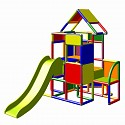 Moveandstic Lisa-large tower with slide multicolor