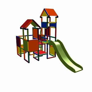 Moveandstic Moritz multicolor - Play castle with slide