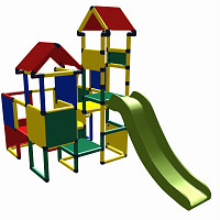 Moveandstic Moritz multicolor - play castle with slide