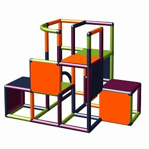 Moveandstic-construction kit Profi apple-green - titanium-grey - orange - magenta