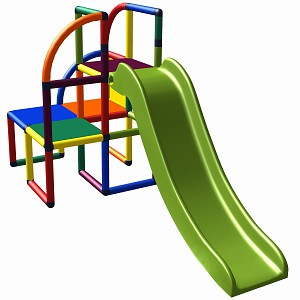 Moveandstic Olaf play tower with slide multi colored