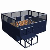 Moveandstic Ballcenter 285x245x125cm titanium gray