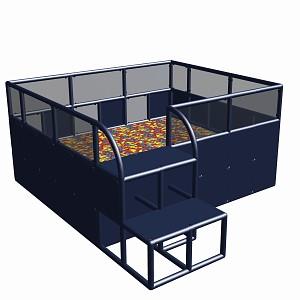 Moveandstic ball center 285 x 245 x 125 cm titanium grey