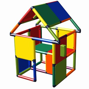 Moveandstic play house Monte with play telephone multi-colored