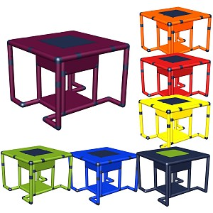 Moveandstic Marie - Table with Oddments Compartment