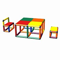 Moveandstic Elias seating group with table and 2 chairs multi-color