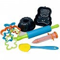 Baking set No. 2 - 11 pieces with 2 baking tins, cookie cutters, garnishing syringe, rolling pin and spatula