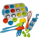 Baking set No. 3 cupcake trays, 12 silicone muffin cups, 23 piece set