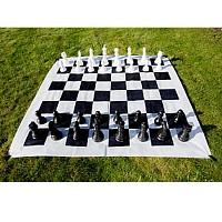 XXL Schach Freiland Terrassenschach Gartenschach, Königshöhe ca. 26 cm, Gigant