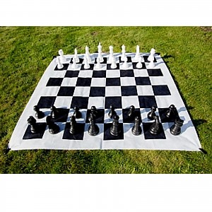 XXL chess outdoor terrace chess garden chess, king height approx. 26 cm, giant