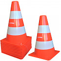 Set of 10 pylons traffic cones