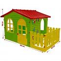 XXL Spielhaus mit Zaun Gartenhaus Kinderspielhaus