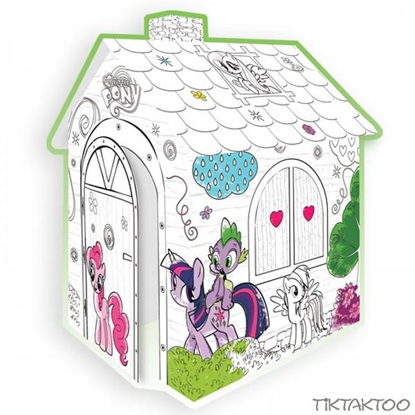 Karton Spielhaus zum Bemalen Malhaus My little Pony - TikTakToo