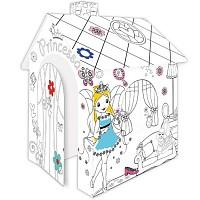 Karton Spielhaus zum Bemalen und Ausmalen für kleine Prinzessin