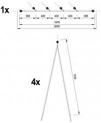 Hangelnetz-Brücke Details