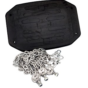 Reinforced swing seat with chains - extra wide
