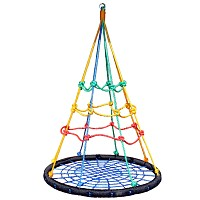 Multi-child Bird`s Nest Swing With Climbing Net Ø100cm