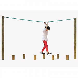 Climbing path element rope for hanging scaffolding, 3m long