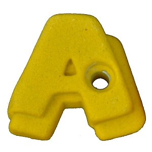 Climbing stone - letter A.