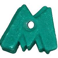 Climbing stone - letter M.