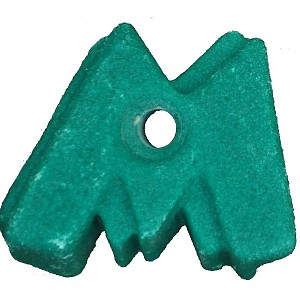 Climbing stone - letter M.